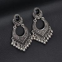 bijoux tibet venda por atacado-Vintage Antique Tibet Beads Brincos Para As Mulheres Oco Brinco Brincos Bohemian Brinco Pendiente Presente bijoux E1381