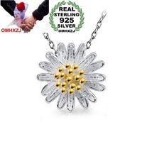 9f362f12ac7 OMHXZJ Wholesale jewelry round woman sun flower Little daisy star kpop 925  sterling silver NO Chain Necklace pendant Charms PE10
