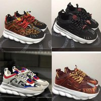 Wholesale red soled mens shoes for sale - Chain Reaction sneakes designer Sneakers Mens Women sport shoes leather Casual Shoes Trainer Lightweight sole with box