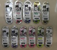 schädelkopfhörer großhandel-heißer Verkauf skullcand INKD in den Ohrkopfhörern mit Mikrofon 10color auf Lager verdrahtete Kopfhörerohrhörer mit dem Kleinpaketschädel für iphone 6 5