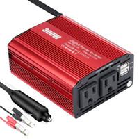 convertidor de coche dc al por mayor-300W Power Inverter DC 12V a 110V AC Car Converter con 4.2A Dual USB Adaptador de coche para Smartphones Laptop Breast Breast