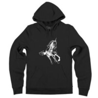 cavalo unicórnio venda por atacado-Mens Running Unicorn Hoodie Horse Graphic Animal Sweatshirt