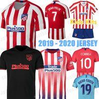 fútbol 14 al por mayor-19 20 Atletico 7 JOÃO FÉLIX 14 M.LLORENTE Madrid camisetas de fútbol FELIPE 9 MORATA 11 LEMAR KOKE SAUL 2019 2020 camisa CORREA