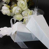 bebek duş şeritleri iyilikler toptan satış-Koni Şeklinde Kağıt Şeker Kutusu Hediye Çantası Ambalaj Düğün Dekorasyon Şekeri Bebek Duş Doğum Günü Olay Parti Malzemeleri ile Şerit