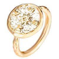 cruces geométricas vintage al por mayor-Moda lychee vikingo geométrico mujeres pirata brújula anillo punk cruz anillo de dedo regalo de la joyería de la vendimia envío gratis