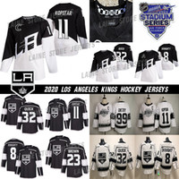 ingrosso hockey su re-2020 Stadio Serie Los Angeles Kings Jersey 8 Drew Doughty 11 Anze Kopitar 32 Jonathan Quick 99 Wayne Gretzky Bianco Nero Hockey maglie