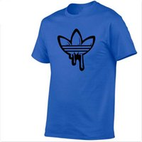 en komik markalar t shirt toptan satış-Son erkek tasarımcı ADi marka O-Boyun kısa kollu Tişört erkek moda grafiti baskı pamuk komik Tişört erkek gömlek T-shirt ca