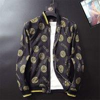 huellas de caza al por mayor-Promoción chaquetas de caza hombres Medusa Printing hombres tops primavera y otoño moda clásica moda de primera calidad