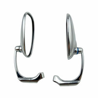 yamaha yan aynalar toptan satış-Özel Evrensel Krom Motosiklet Göstergesi 10mm Dikiz Yan Aynalar yamaha suzuki kawasaki için uyar