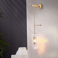 Wholesale ball knob clear for sale - Group buy Creative design of wall lamp attic wall lamp glass ball LED wall lamp hall bedside corridor lighting LLFA