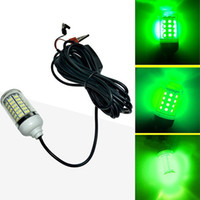 Wholesale fish crappie resale online - EASY V LED Green Underwater Submersible Night Fishing Light Crappie Shad Squid Boat Fishing Light