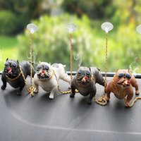 Wholesale bully toys resale online - Best Selling Car Styling Candy Colored Bully Dog Dolls Ornaments Simulated Car Interior Pendant Home Office Decor Toys