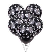 ingrosso animali gonfiabili-Cane orme Bianco palloncini in lattice 12inch 2.8g di compleanno degli animali Decor tema del partito gonfiabile del bambino Regalo Classic Toy Balloon