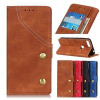 alcatel wallet fall großhandel-Denim Textur Wallet Case für Alcatel 3 3L 2019 PU Leder Flip Cover Case für Alcatel 1S 1X 2019 Phone Cases mit Kartenfach