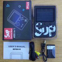 çocuk oyunları konsolu toptan satış-Sup oyun kutusu 1000mAh batarya TV Out With 400 Oyun Retro Taşınabilir Mini El Oyun Konsolu 3,0 İnç Çocuk Oyun Oyuncu