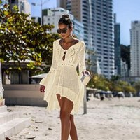 ingrosso ordine caldo dell'abito costume da bagno-colori caldi chiffon scialle della protezione solare e bikini camicette estate calda del bikini Limone Beach Swimsuit Cover-Ups ordine mxi