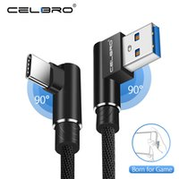 Wholesale right angle usb cables online – 90 Degree USB Type C Fast Charging Cable for Samsung Galayxy S9 S8 Plus Note A3 A5 A7 Right Angle USB C Charger Cabel A