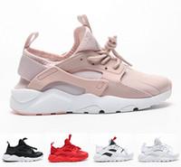 yürümeye başlayan çocuk erkek koşu ayakkabıları toptan satış-Büyük Çocuklar Huarache Run Küçük Çocuklar için Ultra 4 Eğitmenler Huaraches Sneakers Toddler Kız Hurache Spor Ayakkabı Çocuk Huraches E ...