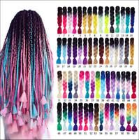 ingrosso capelli di intreccio xpression viola-Trecce jumbo sintetiche Ombre treccia capelli Kanekalon 24