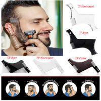 ingrosso strumenti per il sesso-Nuovo miglior modello per modellare la barba Pettine per barba Strumento per modellare il sesso Uomo Gentleman Trim Template Taglio dei capelli Modellatura dei capelli