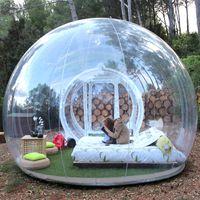 ingrosso gonfiabili di qualità-Tenda a bolle trasparenti gonfiabili con tunnel per il campeggio Spedizione gratuita Tenda a cupola trasparente leggera di alta qualità