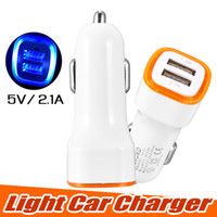 Wholesale car charger online – Universal LED Dual USB Car Charger NOKOKO Vehicle Portable Power Adapter V A for iPhone X Samsung S8 Note with OPP package