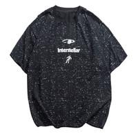 Wholesale solid ink printing online - Hip Hop Graffiti Ink Interstellar Printed T Shirts Streetwear Casual Short Sleeve Tops Tees Male Street Tshirts