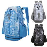 Wholesale womens outdoor sport for sale - Brand New Kobe Backpack Team USA Mens Womens Designer Bags Students Black Grey Blue Outdoor Basketball Backpack Travelling Bag Colour