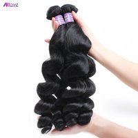 Wholesale ombre hair for black woman resale online - Brazilian Virgin Hair Loose Wave A Unprocessed Brazilian Human Hair Bundles Natural Black For Black Women