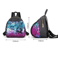 Wholesale unique women fashion backpack resale online - Designer Fashion Backpack Women Sequins Changing Color Fashionable Backpack Leisure Travel Schoolbag Hot Sale Outdoor Unique Bag
