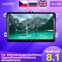ingrosso tibetano fascino fede d'argento-Harfey Android 8.1 2Din per VW / Volkswagen auto / Golf / Polo / Tiguan / Passat / B7 / B6 / leon / Skoda / Octavia Radio GPS Car Multimedia