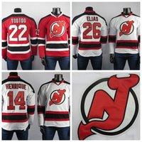 diabos jersey elias venda por atacado-New Jersey Devils Jerseys o melhor jogador do 26 Patrik Elias 22 Jordin Tootoo 14 Grey Jerseys Hóquei no Gelo Masculino bordados Henrique costurado