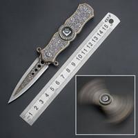 mejor navaja de bolsillo para regalo al por mayor-360 grados 3D cool tip gyro cuchillo plegable cuchillo de supervivencia cuchillos multi cuchillo de bolsillo cuchillo táctico dos estilo para el mejor regalo de los hombres