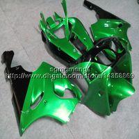Wholesale kawasaki zx7r green fairings resale online - 23colors Botls green motorcycle hull for Kawasaki ZX R ABS Plastic Fairing