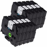 kardeşe uyumlu etiketler toptan satış-10 adet / grup Uyumlu Kardeş P-Touch TZ131 TZe131 PT-D210 PT-H100 PTD400AD PT-P700 PTD600AD için Etiket Bant Teyp