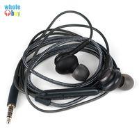 micrófonos dirigidos al por mayor-Fábrica al por mayor de auriculares negros auriculares auriculares con micrófono micrófono línea de cristal para 3.5mm Interfaz para todos 3.5mm jack 300pcs
