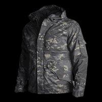 4xl jagdkleidung großhandel-Männer Jacke Mäntel Taktische Jacke Winter Camouflage Jagd Kleidung Armee Mit Kapuze Windjacke Für Camping Wandern S-4XL