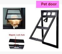 Wholesale dog crates carriers resale online - Small pet door anti mosquito screen window cat dog door cat crates