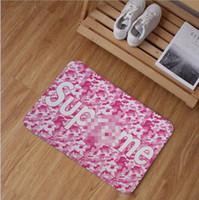 basit mat toptan satış-Halı alan kilim Gelgit marka kenevir yaprak çiçek oturma odası paspas paspas basit modern halı su geçirmez 50X80 CM Antiskid su absorptio