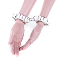Wholesale collar handcuff ankle set for sale - Group buy High Quality Real Leather Collar Handcuffs Anklet set for Wrist Ankle Leg Cuffs Restraints with Lock Adult Sex Toys BDSM Bondage