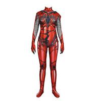 tv vermelho venda por atacado-Red Carnage Veneno Homem Aranha Vermelho Escarlate Gwen Stacy Cosplay Traje Spiderman Zentai Superhero Bodysuit Terno Macacões