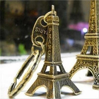 Wholesale mini eiffel towers for sale - Group buy Eiffel Tower Keychain Mini Key Ring Holder Gift Buckle Souvenirs Wedding Accessories Home Decoration dc H1