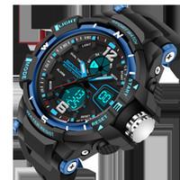 Wholesale mens digital lcd watches resale online - 2019 watch men New Sport Waterproof Mens LCD Digital Analog Quartz Date Alarm Wrist Watch relogio masculino alarm hand clock