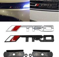 dodge emblemas carregador venda por atacado-1 pcs letra metal Moda TRD Car Grille emblema etiqueta do carro Decal Atacado Decoração para a Volkswagen do emblema do logotipo adesivos de carro