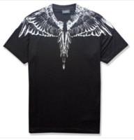 dergi baskısı toptan satış-19ss Yeni Marcelo Burlon 3d baskı T-Shirt Erkek Tüy Kanatları Erkek Kadın Çift Defile RODEO DERGISI T Shirt Goros Camisetas U1855