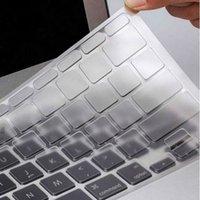 teclado macbook à prova d'água venda por atacado-À prova d 'água à prova de poeira de Silicone Fino Limpar KeyBoard Tampa Da Pele Para MacBook para Macbook Velho Pro 13 15 17 # YL