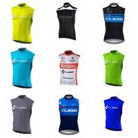 ingrosso abbigliamento gigante blu della bici-2019 New CUBE Uomini Squadra Ciclismo Sleevesless Jersey Vest estate bici da strada Vestiti Top Sportswear Traspirante Quick dry ropa Ciclismo 2336L