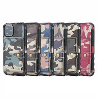 Wholesale military wallets for sale - Group buy Camouflage Shockproof TPU Leather Wallet Case For Iphone XR XS MAX X Samsung Note Pro Military Photo ID Box Luxury Cover