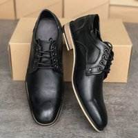 oxford lace ups groihandel-Mens Designer Oxford Schuhe Klassische Moderne Formal Oxford schnüren sich oben Kleid-Schuh-Partei-Hochzeit Schuh-echtes Leder mit Kasten Größe 39-47