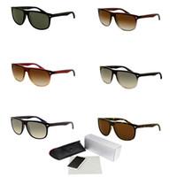 gläser da sonne großhandel-Kunststoff Sonnenbrillen Flat Top Frame Outlet Occhiali Da Sole Runde Sonnenbrille 2019 Luxus Radfahren Brillen High-End-Fahrrad Brille 4147